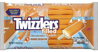 TWIZZLERS ORANGE CREAM POP FILLED TWISTS 311G