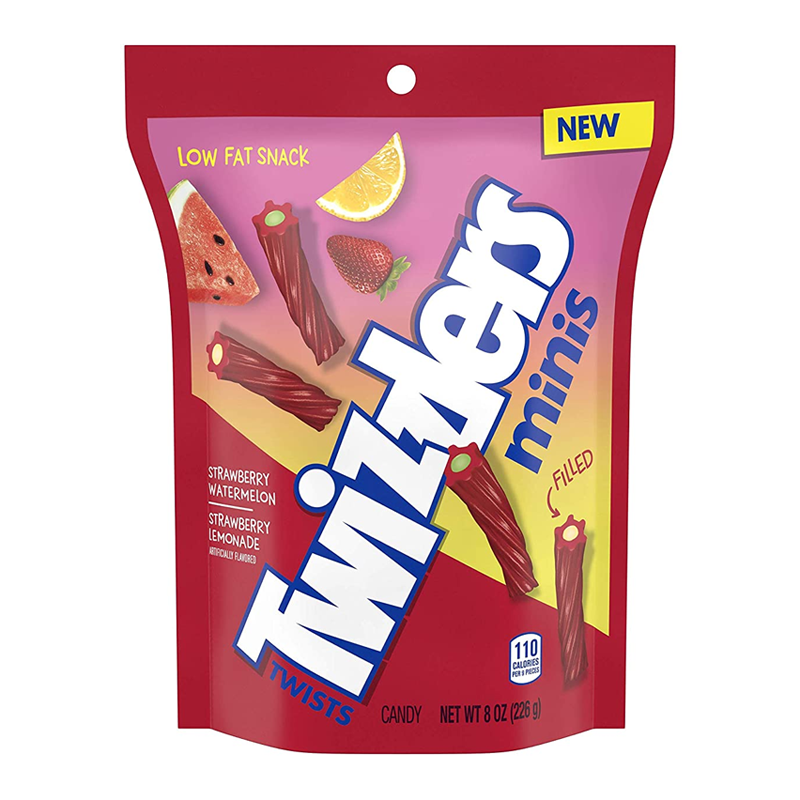 TWIZZLERS MINI TWISTS STRAWBERRY, WATERMELON & LEMONADE 227G