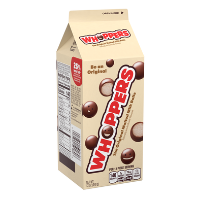 WHOPPERS MALTED MILK BALLS CARTON 340G