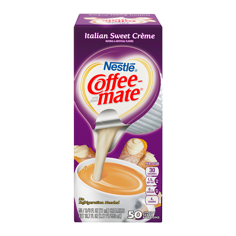 COFFEE MATE ITALIAN SWEET CREAM - 50 LIQUID CREAMER SINGLES