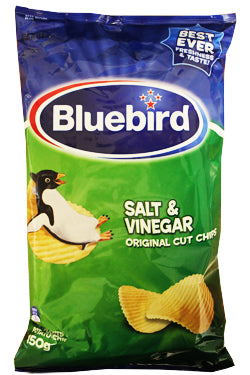 BLUEBIRD SALT & VINEGAR CHIPS 150G