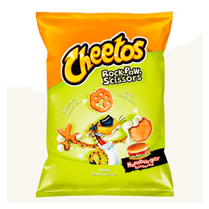 FRITO LAY CHEETOS ROCK PAW SCISSORS HAMBURGER 85G