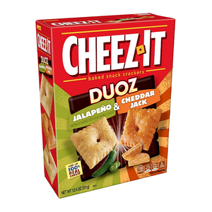 CHEEZ IT DUOZ JALAPENO & CHEDDAR JACK 351G