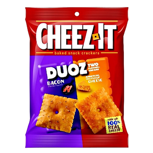 CHEEZ IT DUOZ BACON & CHEDDAR CHEESE 121G