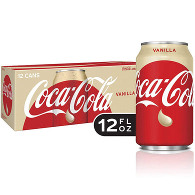 COCA COLA VANILLA - SINGLE CAN & 12 PACK