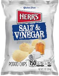 HERR'S SALT & VINEGAR POTATO CHIPS 28G BEST BEFORE 25/09/20