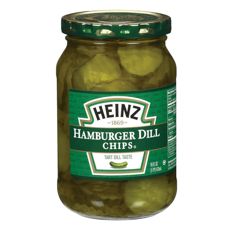 HEINZ HAMBURGER DILL CHIPS 16FL.OZ (473ML)