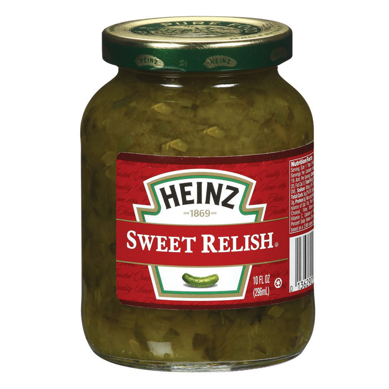 HEINZ SWEET RELISH 10 OZ JAR