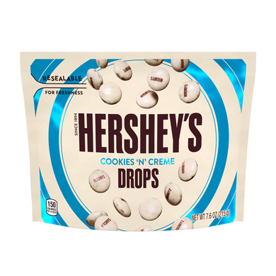 HERSHEY'S COOKIES 'N' CREME DROPS POUCH 215G