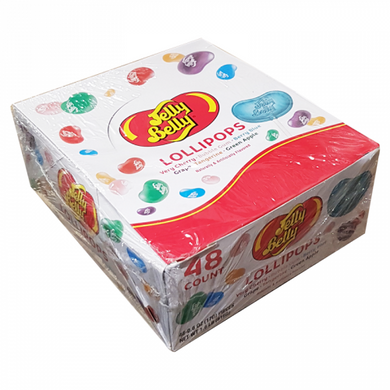JELLY BELLY ASSORTED LOLLIPOPS - BOX OF 48