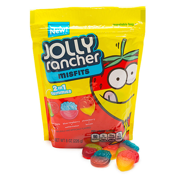 JOLLY RANCHER MISFITS 2-IN-1 GUMMIES CANDY 226G