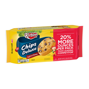 KEEBLER CHIPS DELUXE SOFT & CHEWY CHOCOLATE CHIP COOKIES 467G