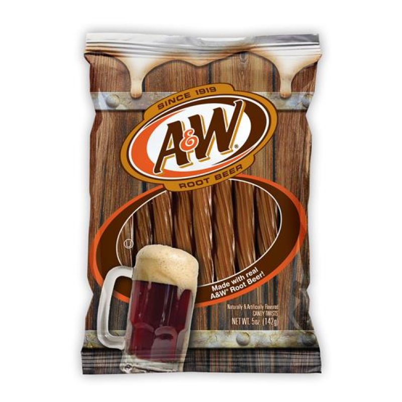 A&W ROOT BEER LICORICE TWISTS 142G