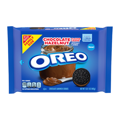 OREO CHOCOLATE HAZELNUT FAMILY PACK COOKIES 482G