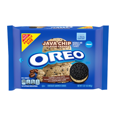 OREO JAVA CHIP FAMILY SIZE COOKIES 482G