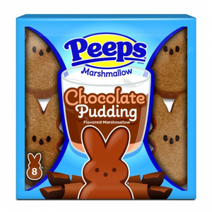 PEEPS EASTER CHOCOLATE PUDDING MARSHMALLOW BUNNIES 8PK