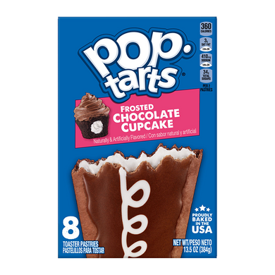 POP TARTS FROSTED CHOCOLATE CUPCAKE BEST BEFORE 26/08/20