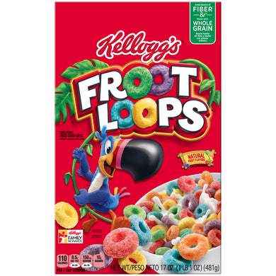 KELLOGGS FROOT LOOPS 17OZ (481G)