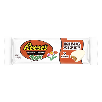 REESE'S WHITE PEANUT BUTTER EGGS KING SIZE 68G