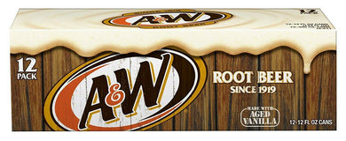 A&W ROOT BEER 355ML CAN - 12 PACK