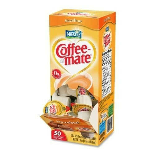 COFFEE MATE LIQUID SINGLES 50 COUNT - HAZELNUT