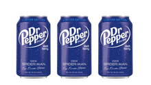 Load image into Gallery viewer, DR PEPPER DARK BERRY - LIMITED EDITION SPIDERMAN - SINGLES OR BOX OF 12