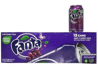 FANTA GRAPE SODA 355ML - SINGLE & 12 PACK