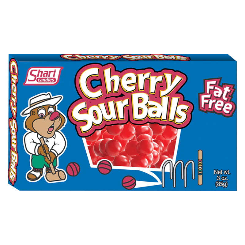 SHARI SOUR CHERRY BALLS THREATE BOX 85G