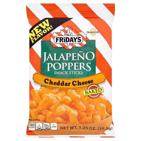 TGI FRIDAY'S CHEDDAR CHEESE JALAPENO POPPERS 35.5G