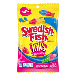SWEDISH FISH TAILS PEG BAG 8OZ (226G)