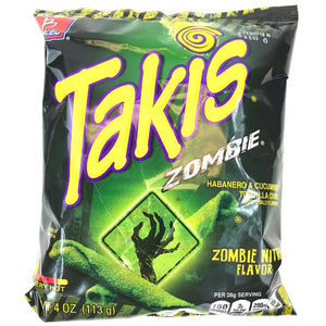 TAKIS ZOMBIE HABANERO & CUCUMBER TORTILLA CHIPS 113G