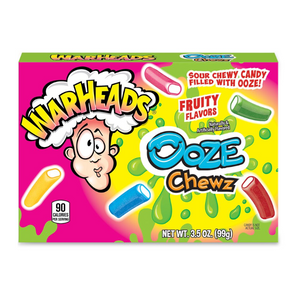 WARHEADS SOUR OOZE CHEWS THEATRE BOX 99G