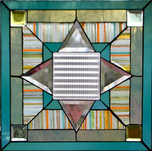 Antique Pressed Glass with Bevels - Stained Glass