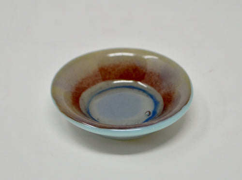 Small Designed Dish Grey Violet