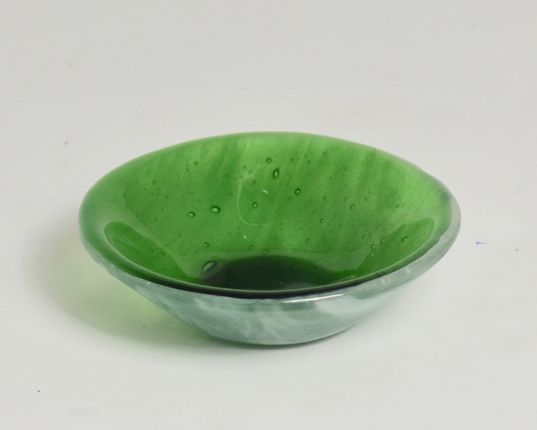 Small Designed Dish Green