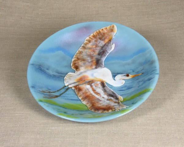Flying Heron - Decorative Bowl