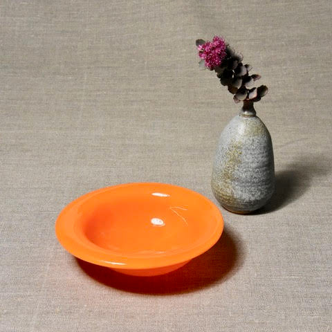 Solid Color Bowl - Bright Orange