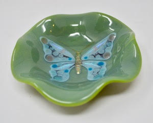 Green Butterfly Dish