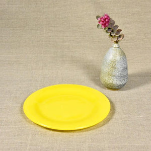 Yellow Salad & Dessert Plate