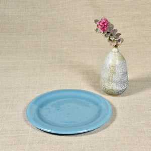 Dusty Blue Salad & Dessert Plate - 8""