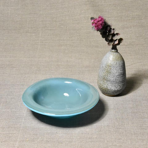 Solid Color Bowl - Cyan/Blue