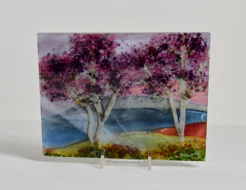 Landscape Small -Two Purple Trees
