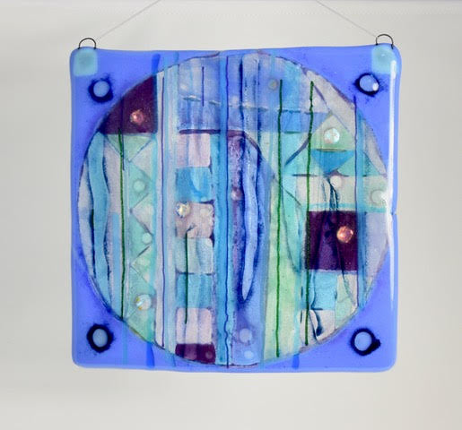 New Works - Periwinkle Square Abstract