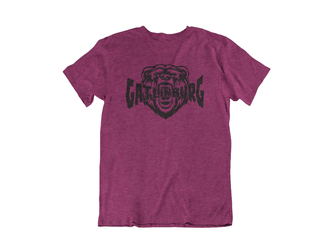 Biting Bear - Gatlinburg TN - Unisex short sleeve T-Shirt