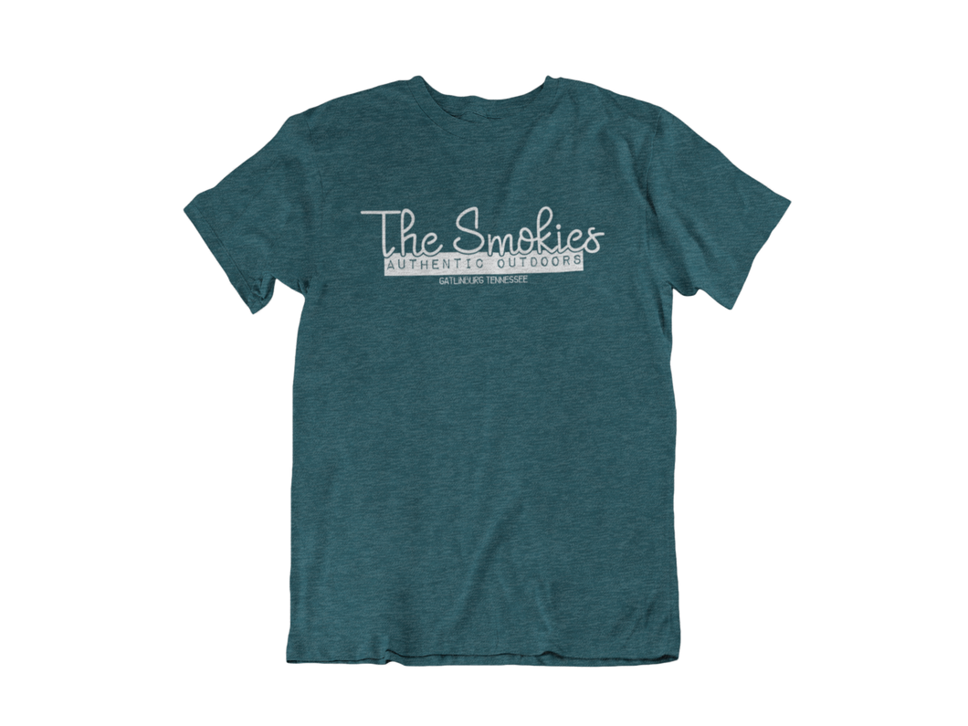 The Smokies... Authentic Outdoors - Gatlinburg TN - Unisex short sleeve T-Shirt