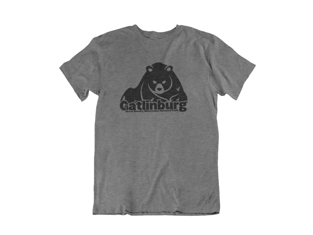 Big Bear print - Gatlinburg TN - Unisex short sleeve T-Shirt