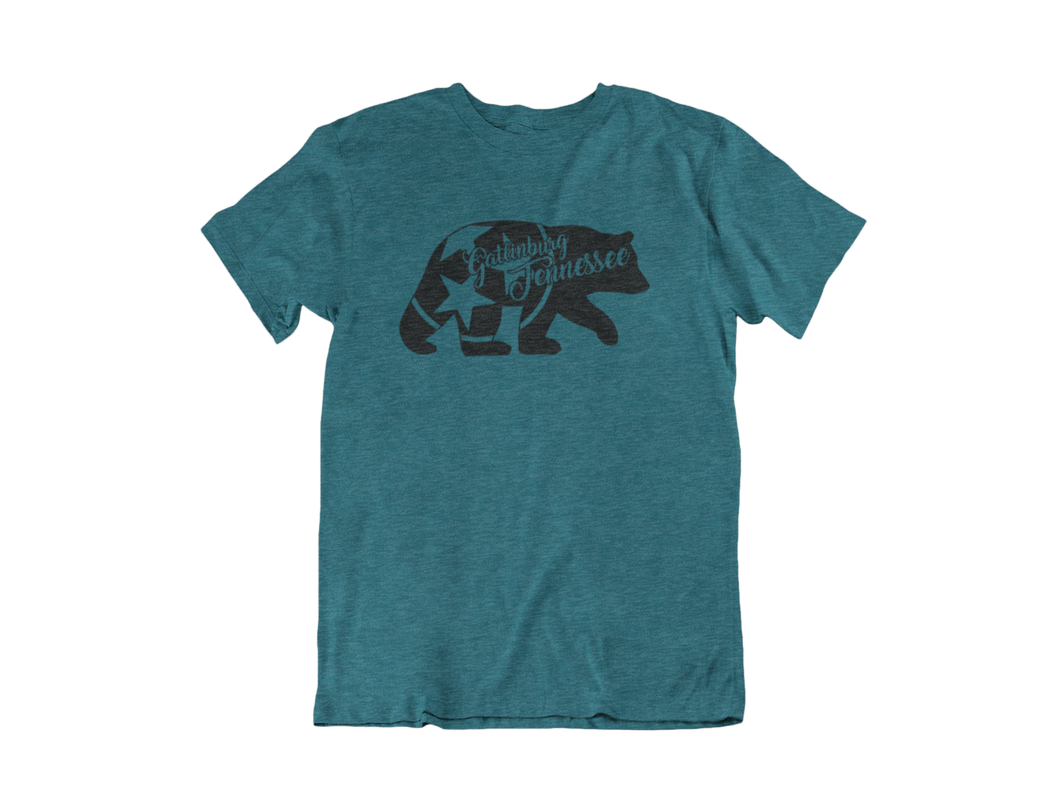 3 Star Bear - Gatlinburg TN - Unisex short sleeve T-Shirt