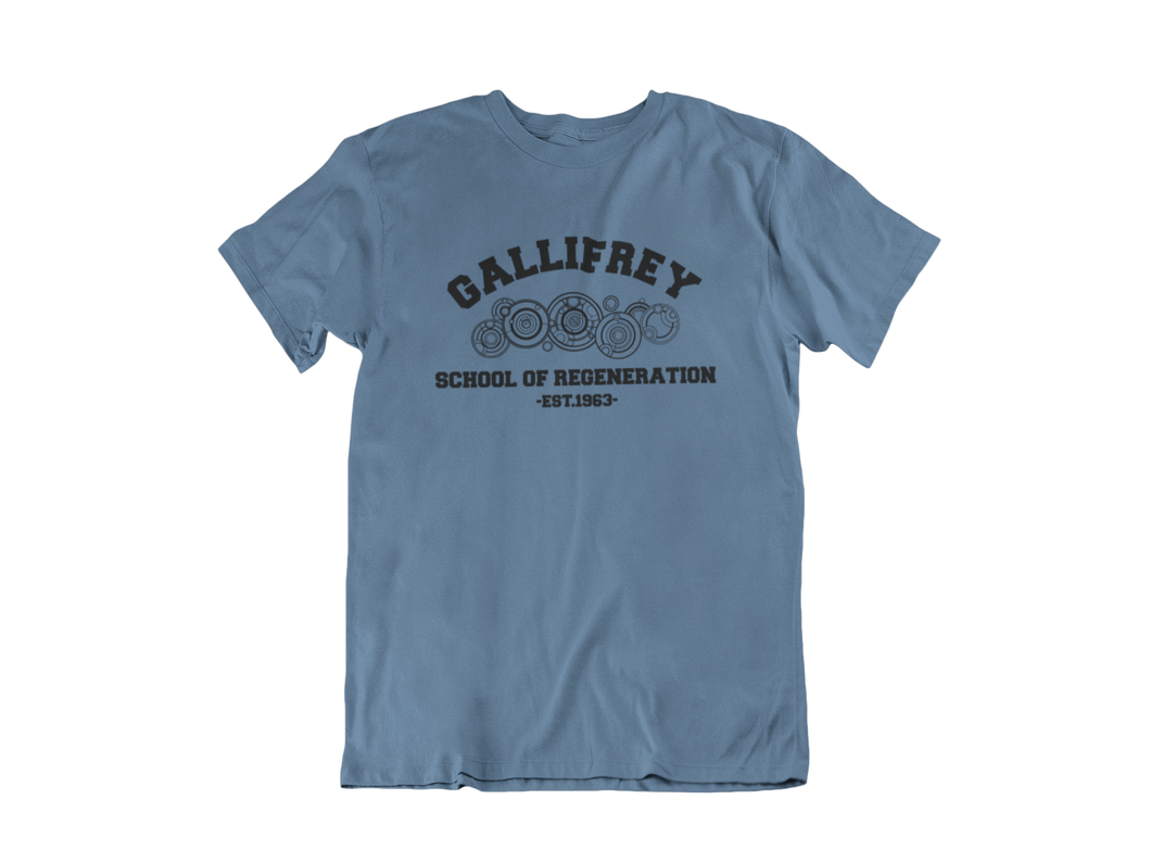 Doctor Who - Gallifrey School of Regeneration - Unisex short sleeve T-Shirt