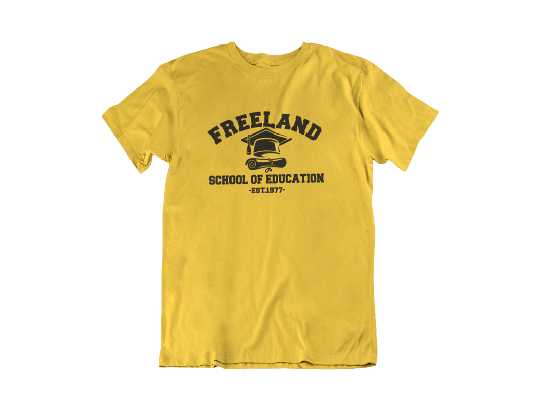 Black Lightning - Freeland School of Education - Unisex short sleeve T-Shirt