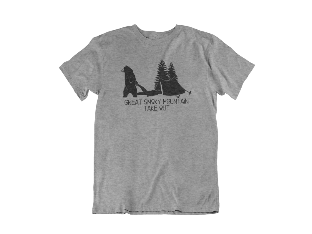 Great Smoky Mountain Take Out - Gatlinburg TN - Unisex short sleeve T-Shirt